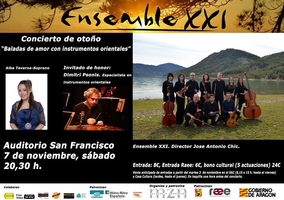Concierto de Otoño 2015 Ensemble XXI